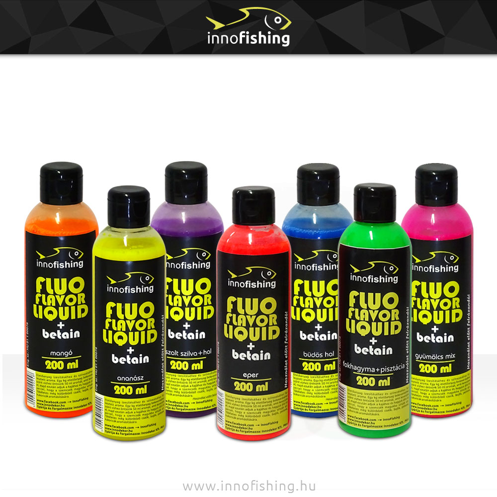 Innofishing Fluo Flavor Liquid, 200 ml
