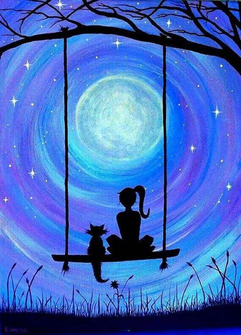 lány csillagok között